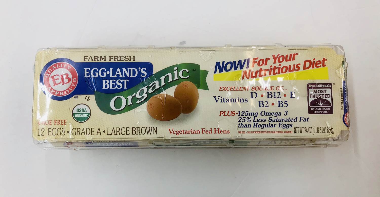 有机A 大黄壳鸡蛋 organic Grade a Large Brown Eggs 12/pk