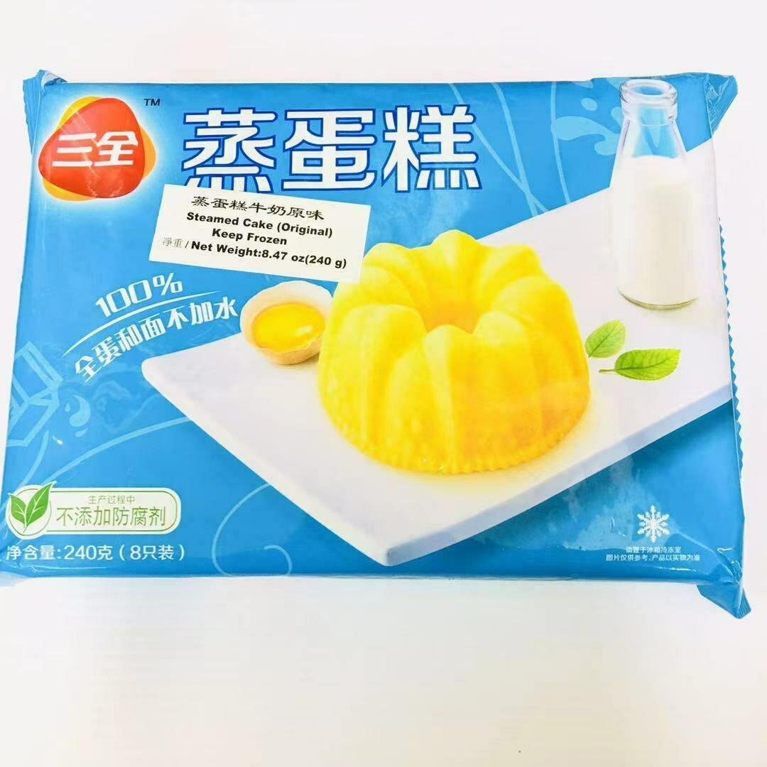 FZ【冷冻】三全 蒸蛋糕 牛奶原味 240g