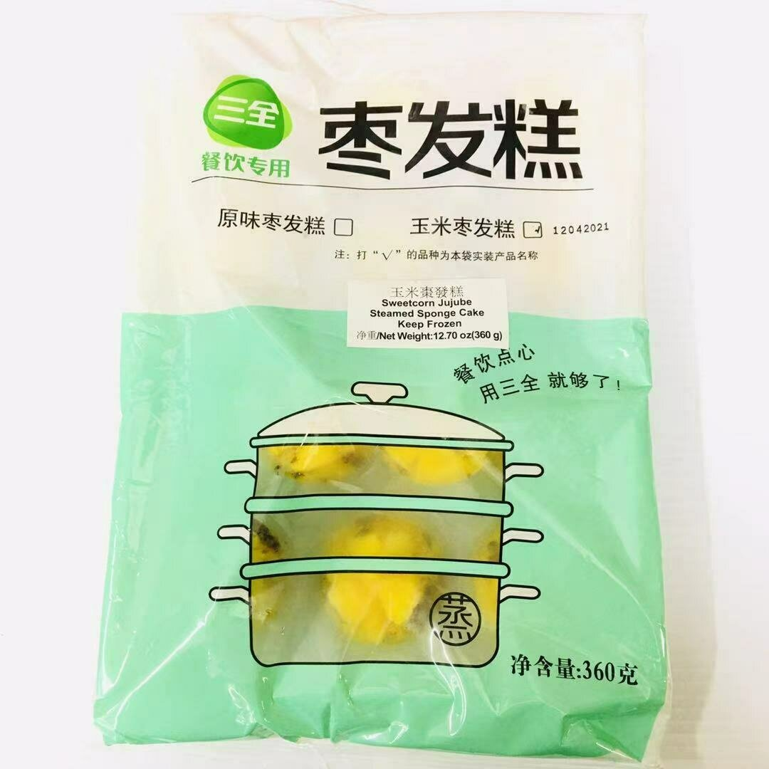 FZ【冷冻】三全 玉米枣发糕 360g