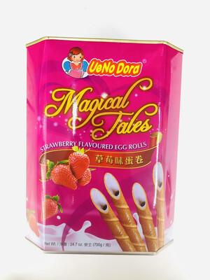 UeNo Dora 草莓味蛋卷 Strawberry Flavoured Egg Rolls 24.7oz(700g)