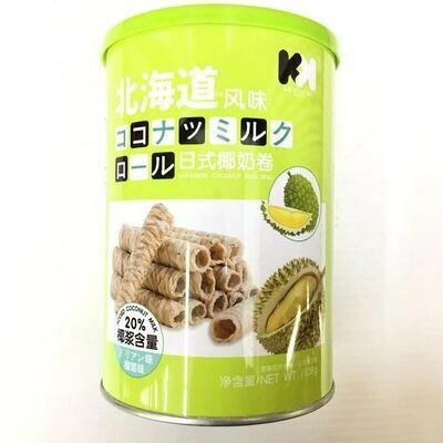 GROC【杂货】KK 日式椰奶卷 榴莲味 108g