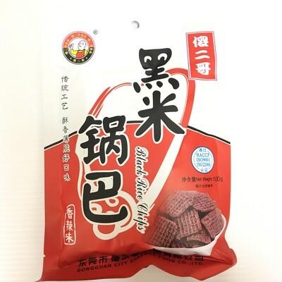 GROC【杂货】傻二哥 黑米锅巴 香辣味 100g
