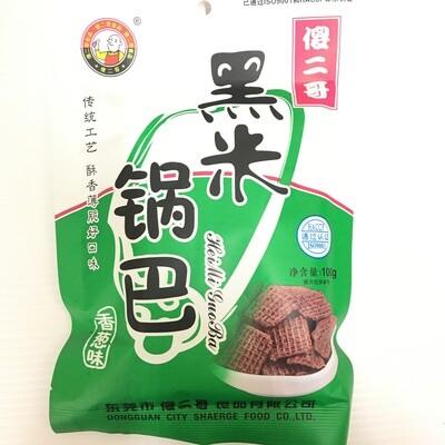 GROC【杂货】傻二哥 黑米锅巴 香葱味 100g
