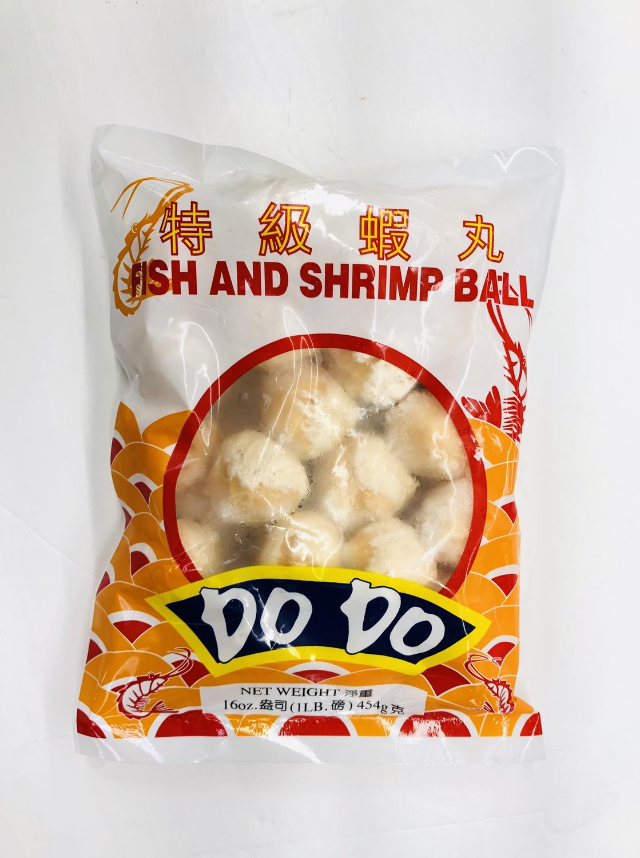 特级虾丸DO DO FISH AND SHRIMP BALL DO DO 16oz(1LB)454g