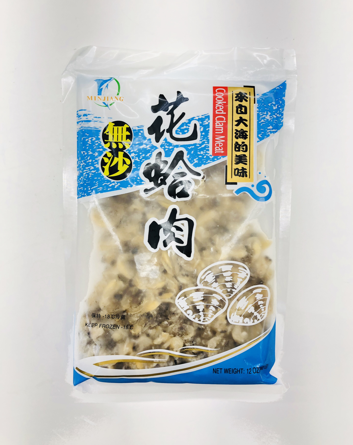 MINJIANG 无沙花蛤肉 Cooked Clam Meat 12OZ(340G)