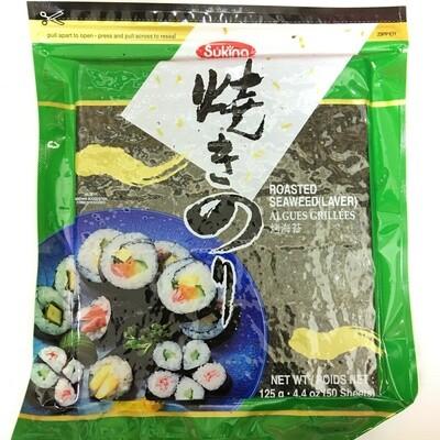 GROC【杂货】Sukina 烤海苔(寿司海苔) 125g(50片)