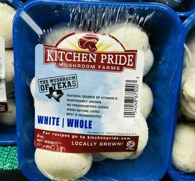 KITCHEN PRIDE 白蘑菇1盒 WHITE WHOLE ~(8oz) 227g