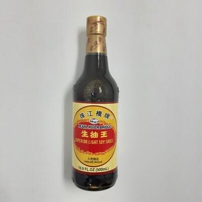 珠江桥牌生抽王 Pearl River Bridge Superior Light Soy Sauce Naturally Brewed 500ml(16.9 fl oz)