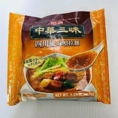 GROC【杂货】中华三味 四川风 味噌拉面 3.59OZ(102g)