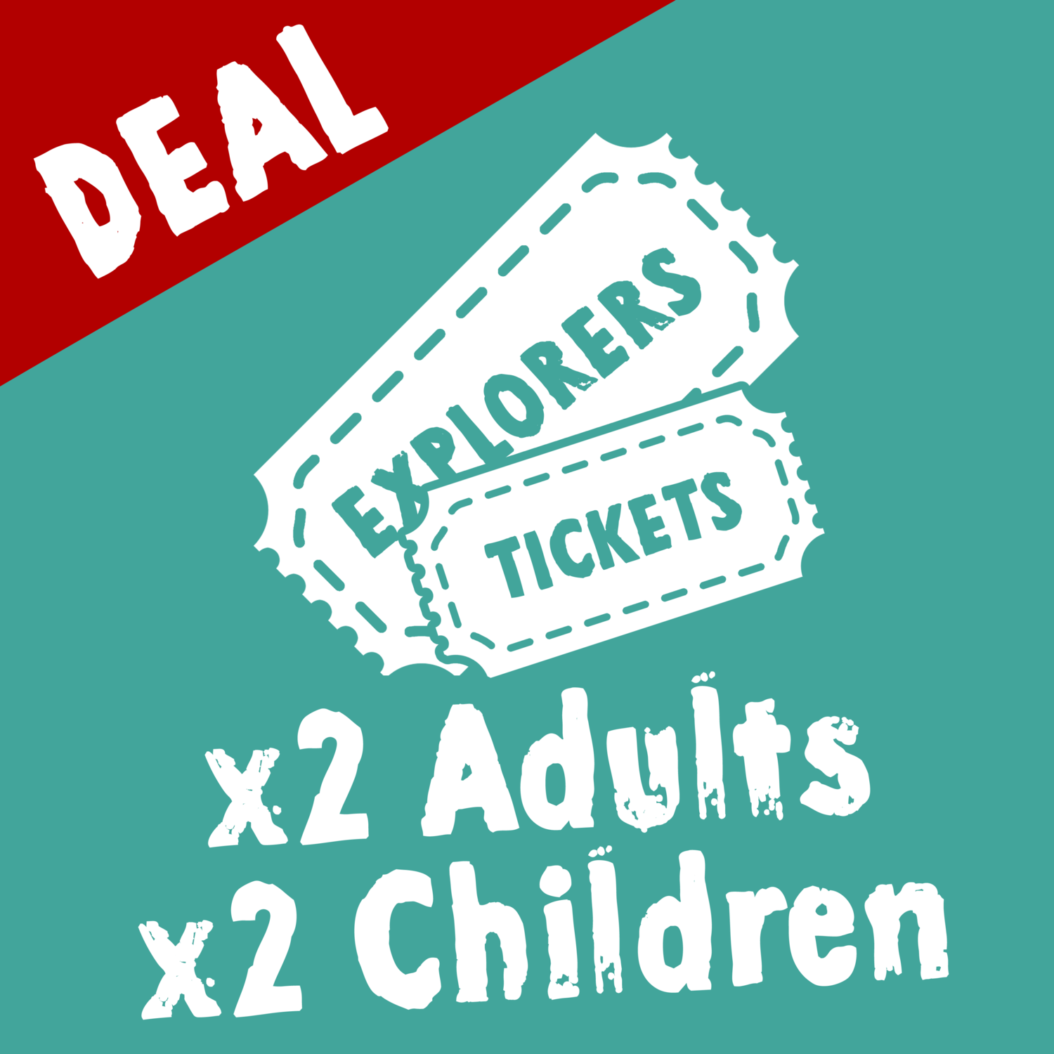 Wild Zoological Park EXPLORERS TICKETS X2 Adult Tickets + X2 Children Tickets ( Single Day Use )