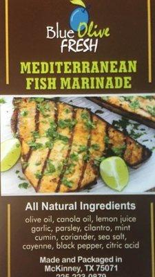 Mediterranean Fish Marinade