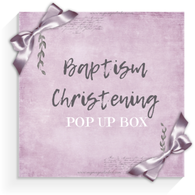 SOLD OUT! POP UP BOX Baptism /Christening