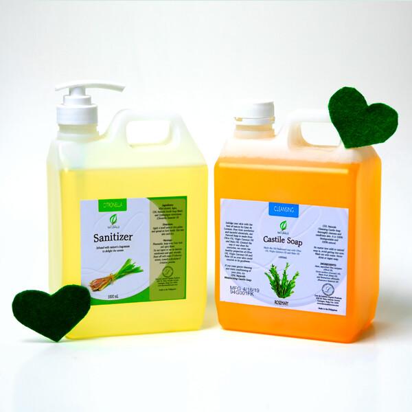 Castile Soap with Free 1 Liter Sanitizer