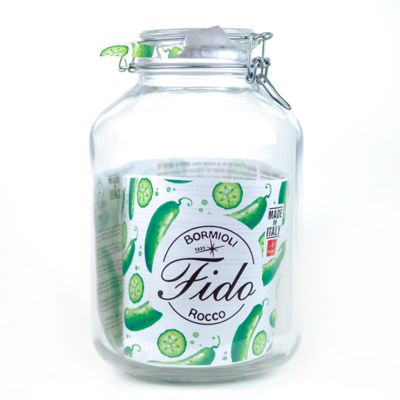 5L Glass Storage Jar with lock