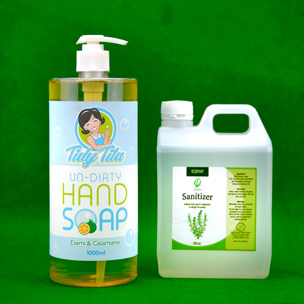 Tidy Tita Undirty Hand Soap and CDL Naturals Sanitizer Bundle 1 Liter