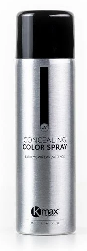Kmax Concealing Colour Spray Black Only 200ml