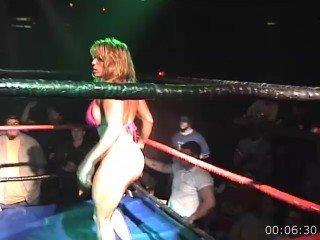 VOD - Sheena 36DD vs GI Ho (Hot Oil Wrestling)