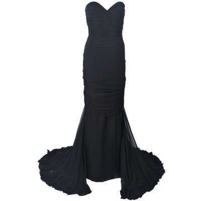 Elizabeth Mason Couture Silk Chiffon Gown Made to Order