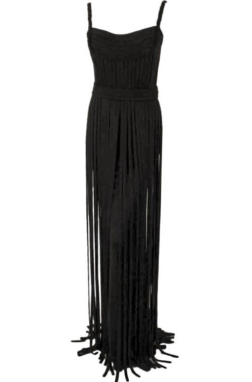 "Elizabeth Mason Couture Black ""No Strings Attached"" Gown"