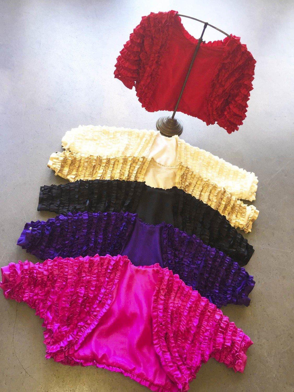 ELIZABETH MASON COUTURE Silk Ruffle Bolero