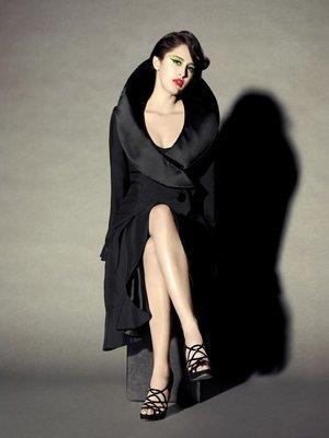 ELIZABETH MASON COUTURE 'Lisa' Silk Satin Coat