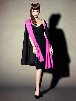 ELIZABETH MASON COUTURE 'Mae' Reversible Silk Coat