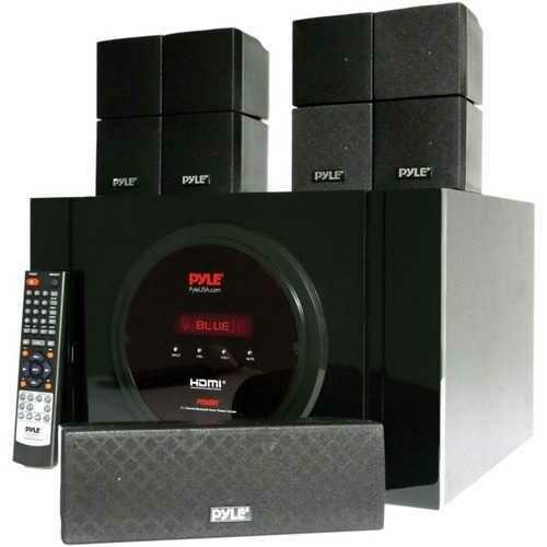 Pyle PT589BT 5.1-Channel Bluetooth Receiver and Surround Sound Speaker System