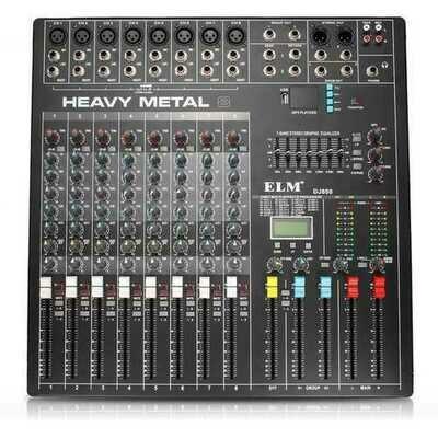 EL M DJ800 48V DC 8 Channel Professional Power Karaoke KTV DJ Mixer With DSP Effect Console