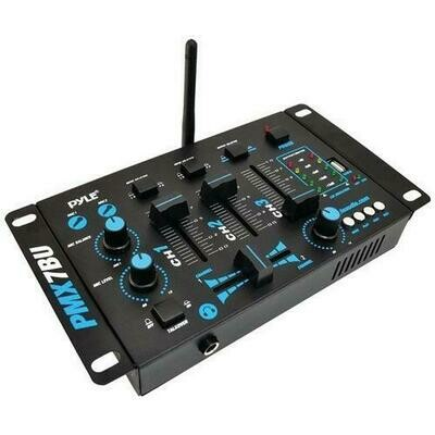 Pyle Pro PMX7BU 3-Channel Bluetooth DJ Mixer