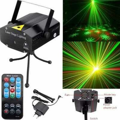 Popular Mini R&G LED Projector Laser Stage Lighting DJ Disco Club Xmas Party