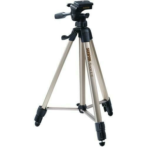 """Sunpak Tripod With 3-way Pan Head (folded Height: 20.8""""; Extended Height: 60.2""""; Weight: 2.3lbs; Includes 2nd Quick-release Plate) (pack of 1 Ea)"""