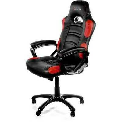 Arozzi Enzo Racing Style Gaming Chair, White - For Game - Nylon, PU Leather - Red