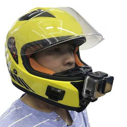 Motorcycle Full Face Helmet Chin Mount for All GoPro Hero SJCAM Action Camera