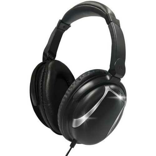 Maxell 199840 Bass 13 Heavy-Bass Over-Ear Headphones with Microphone (Black)