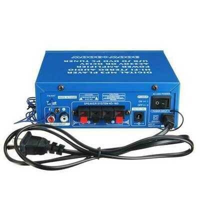 220V/12V 80W 2 Channel Home Power Amplifier Audio Stereo USB bluetooth Hi-Fi Remote Control