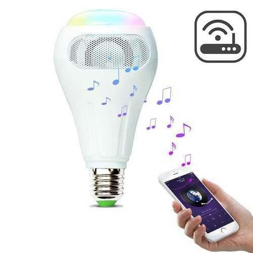 ARILUX® E27 12W RGB+W+WW Smart WiFi APP Control LED Light Bulb Speaker Work With Alexa AC110-240V