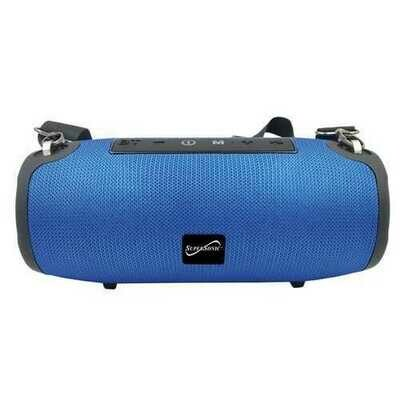 Supersonic SC-2327BT- Blue Portable Bluetooth Speaker with True Wireless Technology (Blue)