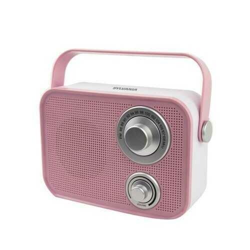 SYLVANIA SP563-PINK Retro Design Bluetooth Speaker (Pink)