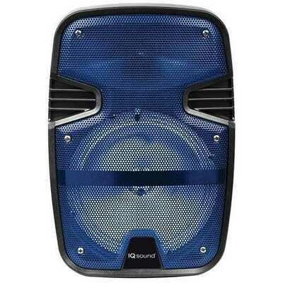 Supersonic IQ-4078DJBT- Blue 8-Inch Tailgate Bluetooth Speaker (Blue)