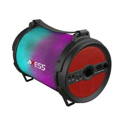 Axess Bluetooth Media Speaker with Wired Mic in Red
