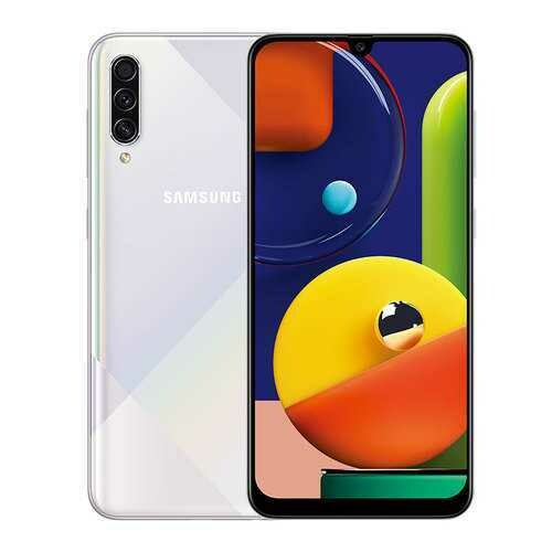 Samsung Galaxy A50S 6GB 128GB 6.4inches FHD+ Super Infinity U-display Octa-Cor 48MP 4000mAh Battery NFC Android Smartphone white_6+128GB