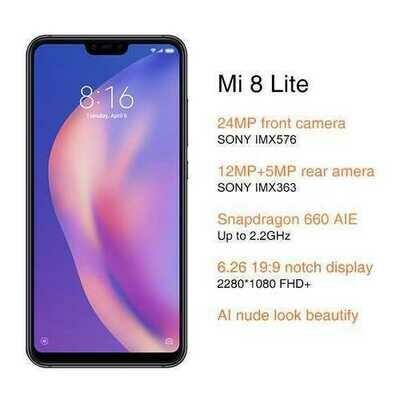 Xiaomi Mi 8 Lite 4+64G Smartphone Black