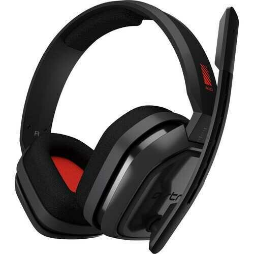 Astro A10 Headset - Stereo - Mini-phone - Wired - 32 Ohm - 20 Hz - 20 kHz - Over-the-ear, Over-the-head - Binaural - Circumaural - Red, Gray