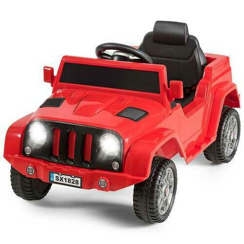 Battery Powered Kids Ride On Car with Remote Control-Red