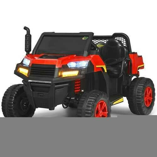 12V Battery Powered Kids Ride On Dumpbed Truck RC-Red