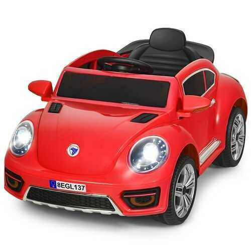 Kids Electric Ride On Car Battery Powered -Red