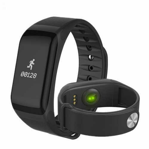 Bakeey F1 Blood Pressure Heart Rate Monitor Smart Wristband Bracelet For iPhone X 8 Plus S8 OnePlus5