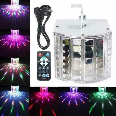 18W LED RGB Sound Actived DMX512 Strobe Effect Stage Light DJ Disco Bar Party