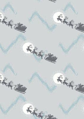 Lewis & Irene Northern Lights - Santa's Sleigh on Silver