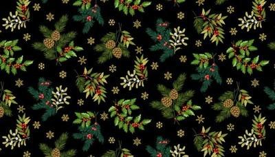 Makower Deck the Halls - Foliage Scatter Black